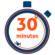 30 minutes accident response guarantee