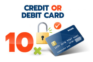 10 monthly instalments by debit or credit card