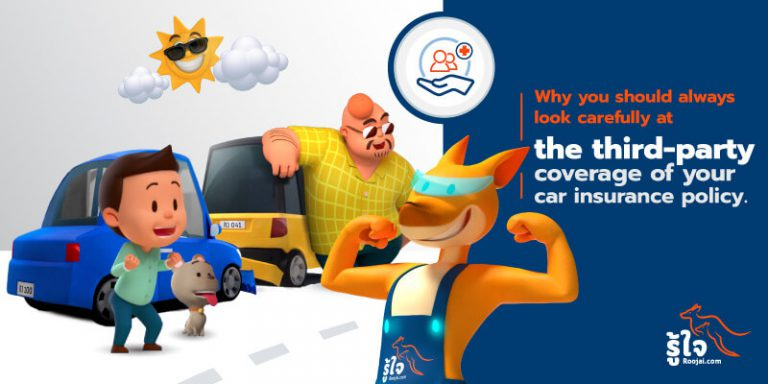 third party car insurance coverage with Roojai.com