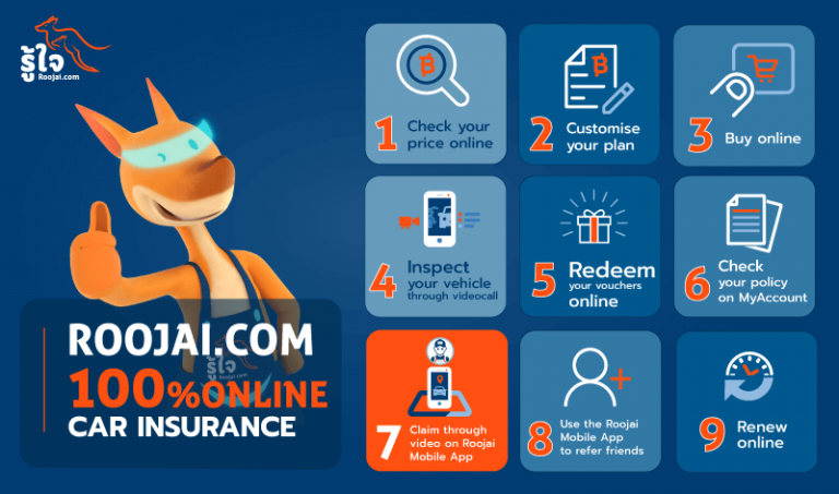 Roojai.com introduces video insurance claim service in addition to its full stack of innovative technology for insurance